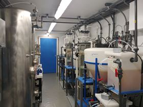 The PFAS compounds extracted from the ground are destroyed using ultraviolet light and oxidation technology inside a special container. (Image: EnChem Engineering Inc.)