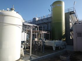 SIMAM's MBR technology at the Terni Water treatment plant in Italy. (Image: SIMAM)