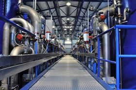 This water treatment facility can produce 17,000 m³/d of drinking water.