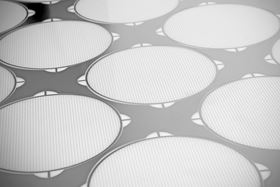 Photo etching enables conical holes and complex aperture arrays can be incorporated without cost penalty.