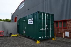 The TransPAC on site at the WTW in Yorkshire, UK.