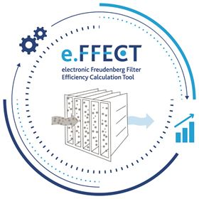 e.FFECT enables a comparison of efficiency rates and stored dust masses for filter stages connected in series. (Picture courtesy of Freudenberg Filtration Technologies.)