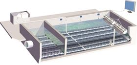 An illustration of Xylem's Sanitaire ICEAS system.