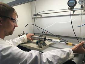 Testing of the membrane cartridge for increased oxygen concentration.