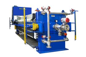 A Micronics filter press with automatic cloth washing system.