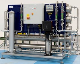 Axium Process' new packaged low conductivity water system is designed for water purifying applications.