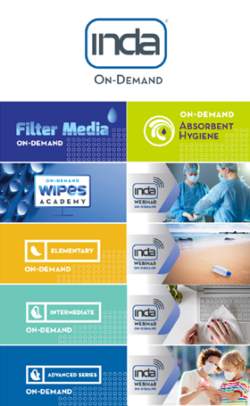 INDA has introduced on-demand training and key issue webinars for nonwoven and engineered fabric professionals.