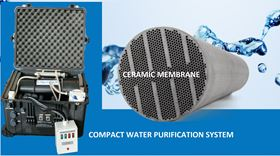 The compact water purification system weighs under 30 kg, so is easily transported and able to access remote areas.