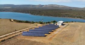 Africa's first solar desalination plant at Witsand, Hessequa Municipality, South Africa.