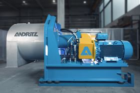 The Andritz ecoOne pusher centrifuge has only one powerful motor instead of a separate pusher and drive motor.