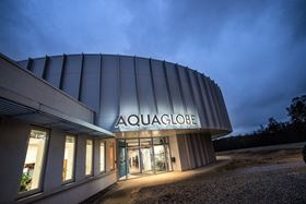 AquaGlobe is a visitor and dissemination center for water technology solutions.