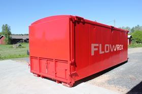 The Flowrox Geobag, an all-in-one geotextile filtration and dewatering unit.