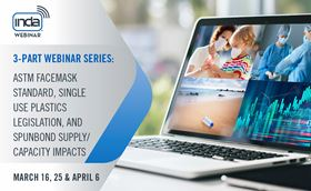 The webinars will cover the most critical issues facing the North American nonwovens industry.