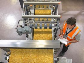 Food processing in a Dow Water & Process Solutions installation.