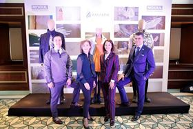 Mogul's 20th anniversary was combined with a Madaline fashion show of creations by Turkish fashion designer Arzu Kaprol, seen here second from the left. Also in the photograph are, from left to right: Enver Kayali, deputy chairman of the board, Ayse Kayali, assistant to the chairman of the board and Serkan Gogus, CEO.