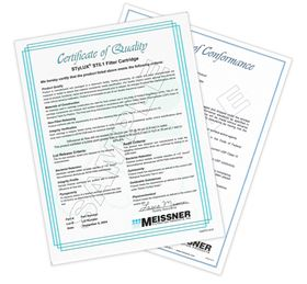 Product certification can now be securely downloaded from the Meissner website.