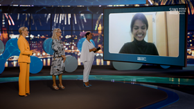 Eshani Jha from the US receives the 2021 Stockholm Junior Water Prize for research on how to remove contaminants from water.