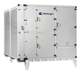 Watergen's large scale atmospheric water generator.