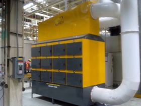 Figure 1: The Clean Air Scand Mist™ system for oil mist and smoke removal at a leading American Automaker's facility in Mexico.