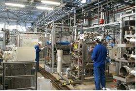 Workers in the Global Water Technology center of Dow Water & Process Solutions.
