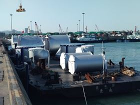 Alfa Laval PureSOx scrubbers on the way to the shipyard.