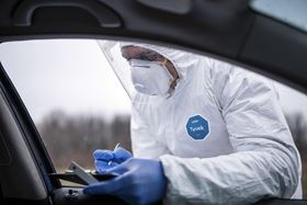DuPont's Tyvek coveralls are used for Covid-19 testing. (Image: GettyImages)