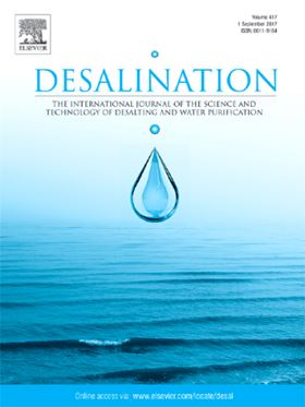 Elsevier journal Desalination.