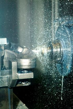 Figure 2: In manufacturing industry, oil mist arises during metal-cutting machining.