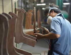 The manufacture of furniture is an important sector for wood products.