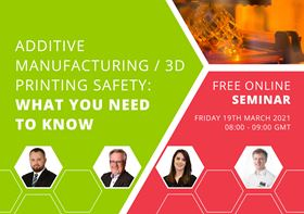 The seminar will explore the risks presented by emissions linked to processes such 3D metal printing and what can be done to mitigate these.