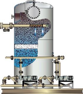 Figure 4. Dissolved gas flotation unit. (Courtesy of Siemens Water)