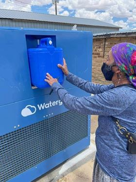Watergen's GEN-M AWG will produce up to 211 gallons of clean drinking water for the community.