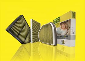 The FreciousPlus cabin air filter removes harmful particles and viruses from the outside air that are drawn into the vehicle.