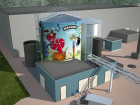 Artist impression of new Paques bio-digester for Ben & Jerry's ice cream factory