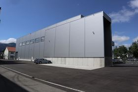 The exterior of the new test centre.