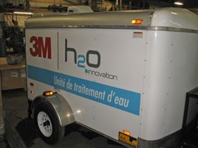 The mobile emergency water treatment system
