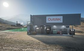 The Outotec module is said to be ideal for remote locations with minimum transport and storage needs.