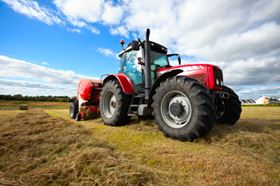 Filters can be fitted to agricultural tractors to protect the driver from soil particles.