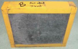 Figure 10: Filter B not protected by a pre-filter after one year of use.