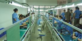 Production of electronic components requires a clean room environment.