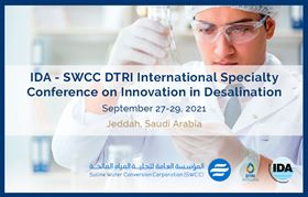 The conference will include a visit to the SWCC desalination and technology demonstration facilities..