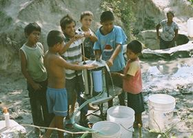 The Grifaid Community Filter in use in Honduras.