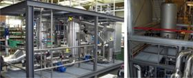 Case study 1: Unit after assembly (left) and installed (right)