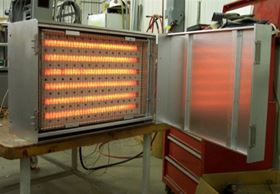 The system from David Weisman features fast response electric infrared heaters and controls.