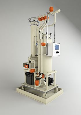 The self-cleaning filtration system is designed for plating applications used in lighting and plumbing fixtures, appliances, automotive and aerospace.