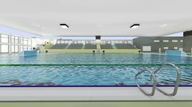 A render of the pool that Fluidra will build for the water polo competition at the 2019 Pan American Games.