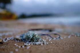 Whether in the sea, in the soil or in the air – microplastics pollute people and the environment. (image: Unsplash, Sören Funk)