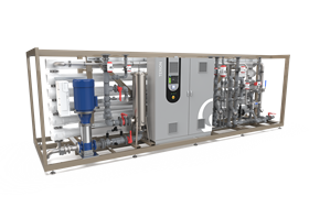 TERION is a new RO-CEDI unit that produces demineralised water for power applications.