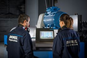 The Andritz CentriTune has a user-friendly and intuitive touch screen. Image courtesy of Andritz.