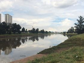 Part of São Paulo's River Pinheiros in Brazil, where Next Filtration's FOG Stop formulation has proved that it can make significant improvements to pollution.